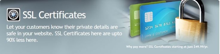 Buy SSL Certificates To Secured Your Data And Transactions  http://www.yogihosting.com/sslcertificates.htm