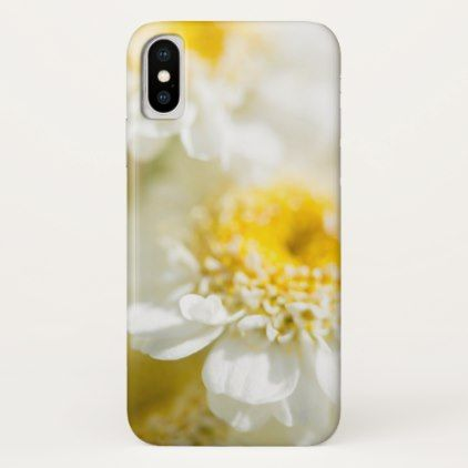 White Daisy Flower Photo iPhone X Case - girly gift gifts ideas cyo diy special unique