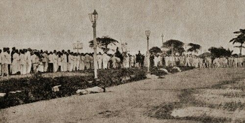 Sept. 4, 1896:  Valenzuela, Peralta, Rivera, and Silvestre were executed by firing squad at the Luneta (ABOVE). Valenzuela was hard to kill: four more shots, fired close to his head, scattered his brains over the grass.
