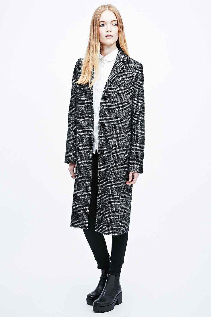 Cooperative Slimline Check Coat in Mono