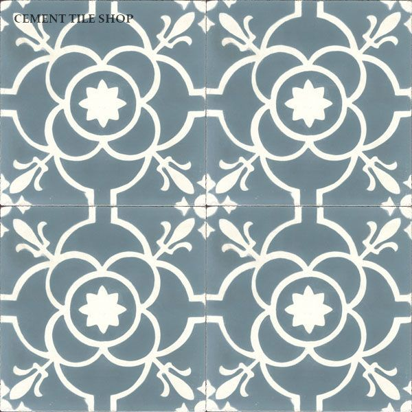 Cement Tile Shop - Handmade Cement Tile | Paris Blue http://www.cementtileshop.com/in-stock-encaustic-cement-tile/ParisBlue.html baldosas hidraulicas