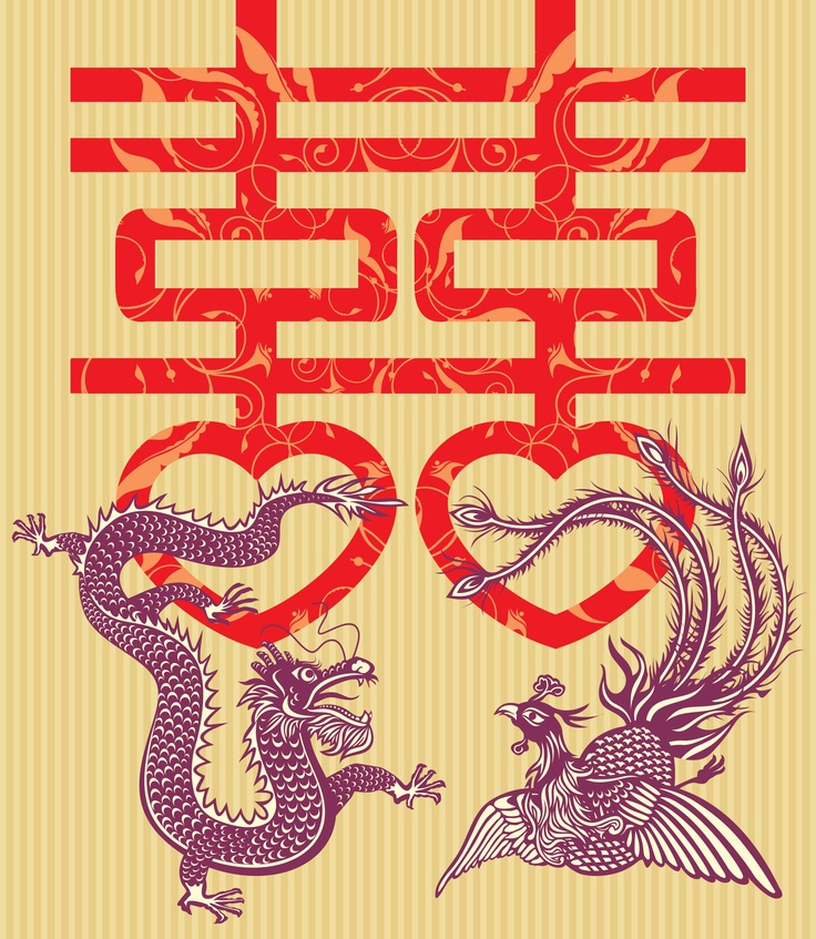 The Dragon (Yang energy) and the Phoenix (Yin energy) are a symbol of inseparable fellowship