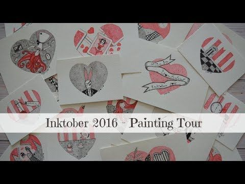 .: Alice in Wonderland Painting Tour - Inktober 2016 :. - YouTube