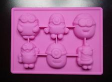 Pink Minion Ice Cube Tray Mold for Candy, Soap, Chocolate, Resin, Fondant