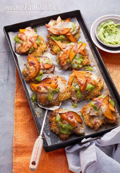 Rösti-Schnitzel mit Kürbis und Lauchpesto