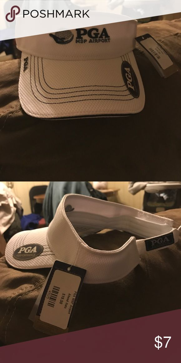 Mens golf visor Men's white visor Accessories Hats