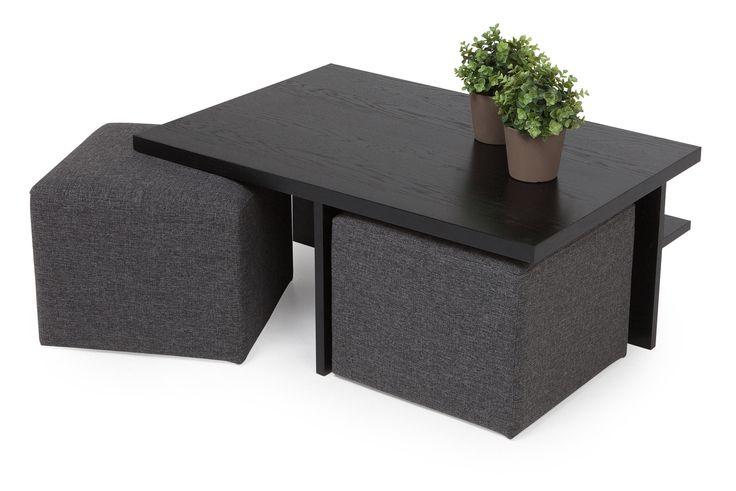 Köp Soffbord 2-pall Oliver Svart/mörkgrå hos Chilli. Hos oss får du hög kvalitet till bra pris. Handla fraktfritt med snabb leverans direkt till dörren - Välkommen!