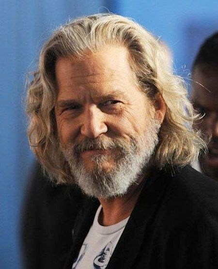 Graues Haar älter Herren Männer Lang Länger Jeff Gibb