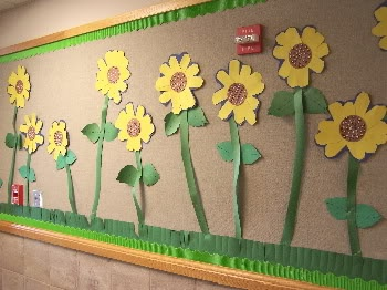sunflower bulletin board ideas