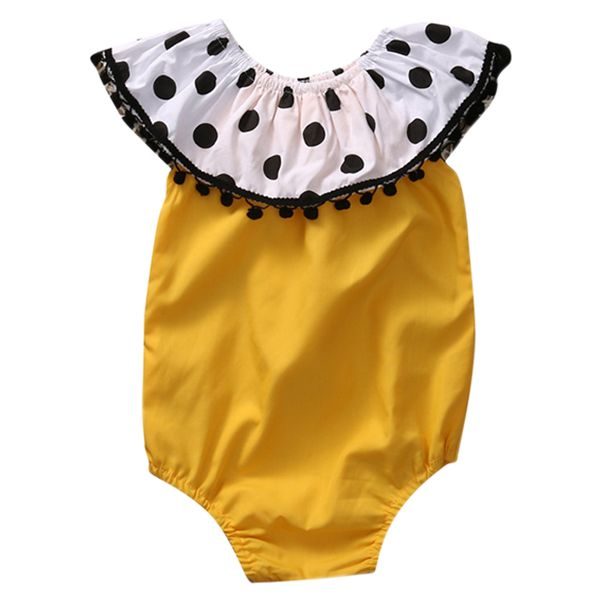 Princess Polka Dot Yellow Playsuit