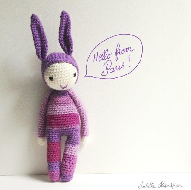 crochet rabbit by Isabelle Kessedjian