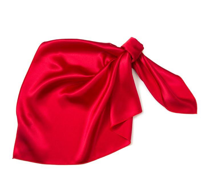Apaszka damska 83-7D-S10-P pudrowy róż jedwab - sklep internetowy WITTCHEN 2016