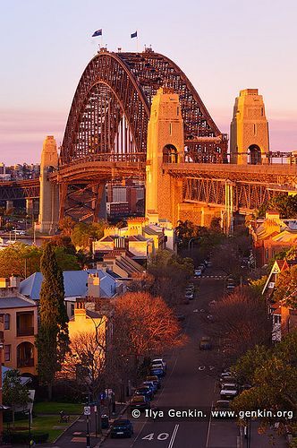 Sydney Harbour Bridge From Observatory Hill, Sydney, New South Wales, Australia