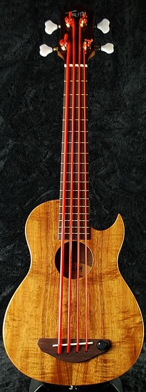 "Calling your Uke Bass ""Truth""! not pretentious at all  but it looks nice and I always like rubbery red uke bass strings  Lardys Ukulele of the day 2017  --- https://www.pinterest.com/lardyfatboy/"