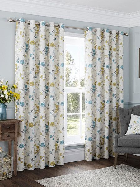 Image for Anya Eyelet, Duck Egg - Ready Made Curtains