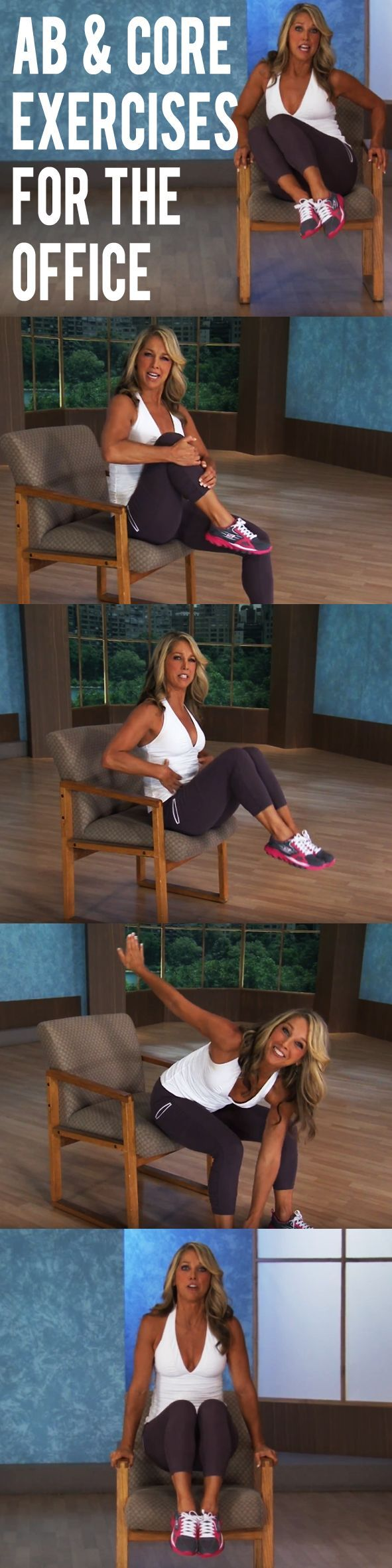 Quick Ab Workout You Can Do At Your Desk Feeling A Little Sluggish While Sitting In Office Chair All Day Long Spend Few Minutes Doing These Simple