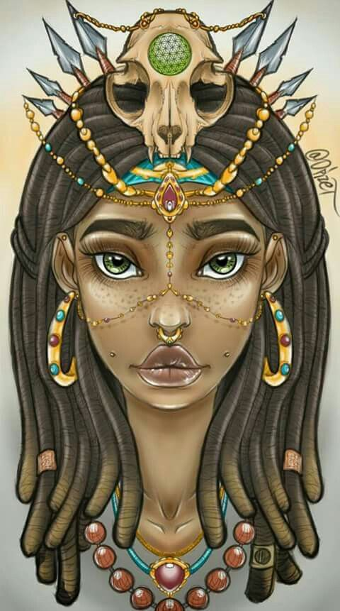 1000 images about black women in art on pinterest black for Black african queen tattoos