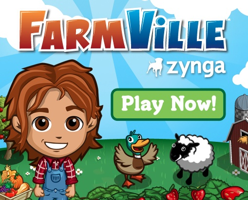 Moo! Cluck! Baaaa!  Click on the image to play FarmVille now!