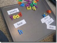 Sight word magnets to go with the letters...duh!