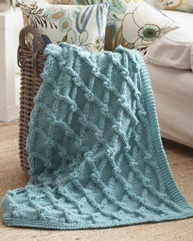 Knitting Pattern For Bobble Blanket : 359 best images about Knit Blankets on Pinterest Free pattern, Yarns and Ra...