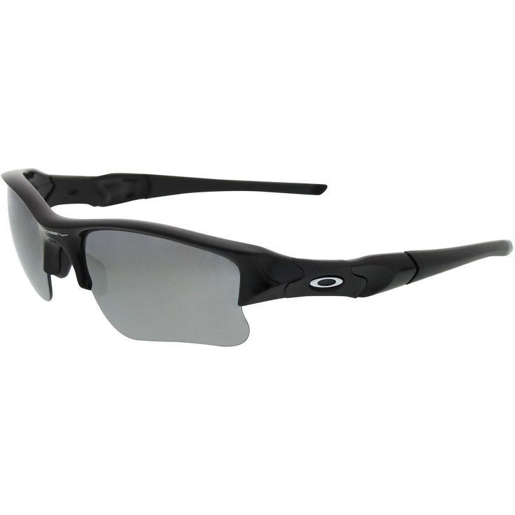 NEW Oakley Mens Flak Jacket XLJ 03-915 Black Wrap Sunglasses