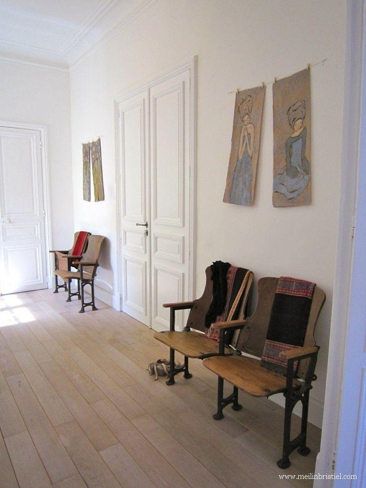 Mei Line, vintage, wooden cinema seats from Copiapo, Chile