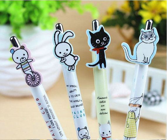 Cute korean animal kawaii mechanical pencil by DearCocoSupplies