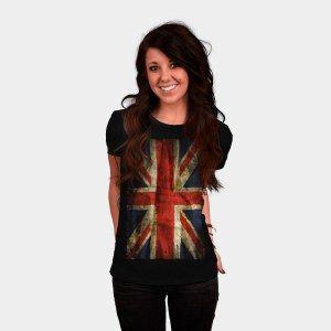 Grungy Fashion | Grunge Britsh Flag T Shirt | Perfect shirt to wear when visiting London, England and Scotland | Buy this stylish Union Jack T shirt at http://shirtminion.com/2014/10/grunge-british-flag/