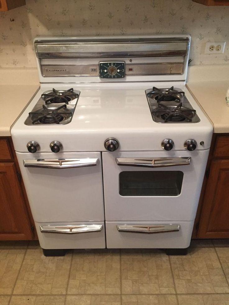 Antique Universal Cribben 4 Burner Gas Stove Oven Vintage