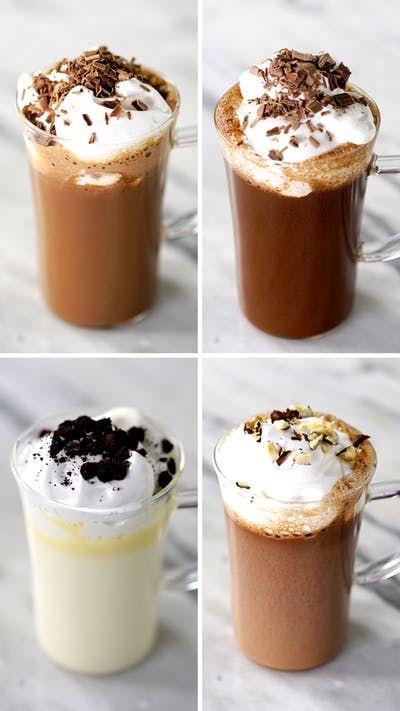 Quatro receitas deliciosas de chocolate quente que vão te aquecer no inverno!