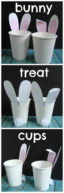 Quick bunny treat cups - perfect for Easter parties or neighbor gifts!