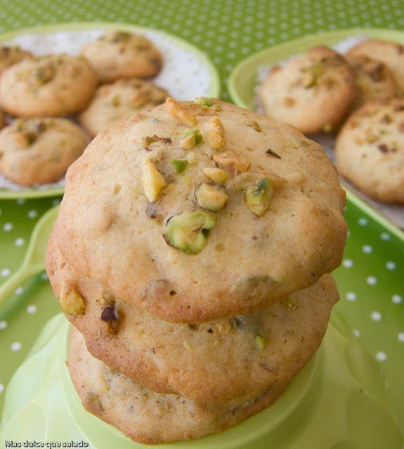 Deliciosas cookies con miel y pistacho.