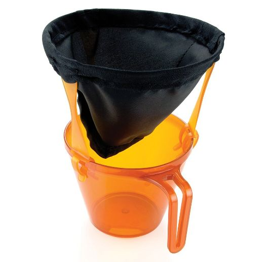 A reusable coffee filter for getting a caffeine fix when you're miles away from the nearest Starbucks. | 30 Insanely Useful Camping Products You'll Wish You Knew About Sooner