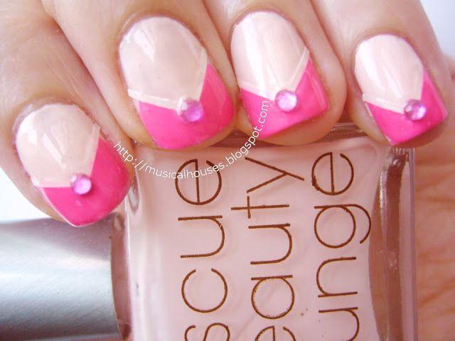 Spring/Summer Pink Nail Art: Neon and Neutrals Colourblocking!