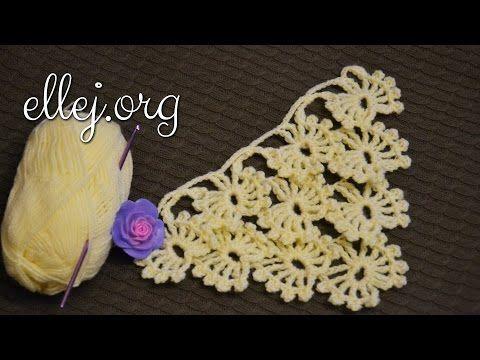 Узор для шали Бабочки-Снежинки. Butterfly-Snowflakes crochet pattern. - YouTube