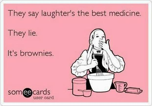 Brownies can make anybody feel better :-)