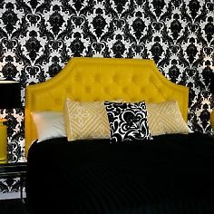 Black And White And Yellow Bedroom 107 best yellow bed images on pinterest | 3/4 beds, yellow bed and