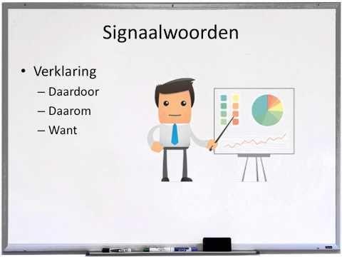 Signaalwoorden + tekstverbanden (klas 3) - YouTube