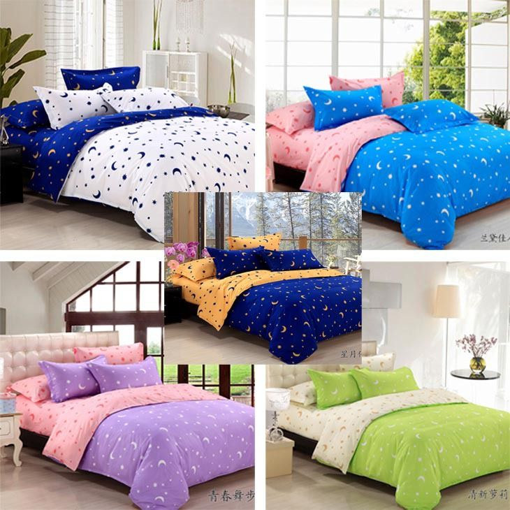 Cheap bed sheet sets on sale, Buy Quality bed sheet set directly from China sheets free Suppliers: 		bedding set,bed linen,bedding-set,bed sheet,duvet cover,bed set	Free Shipping stars and moon pattern bed set / bedding