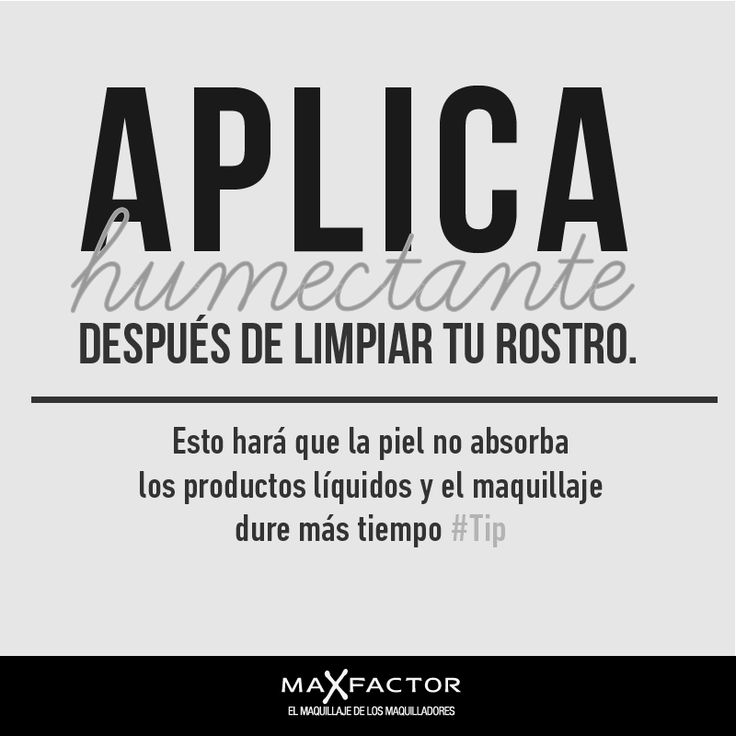 Humectante #Tip #Maquillaje.