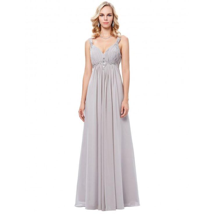 Sivé spoločenské šaty GK000129
