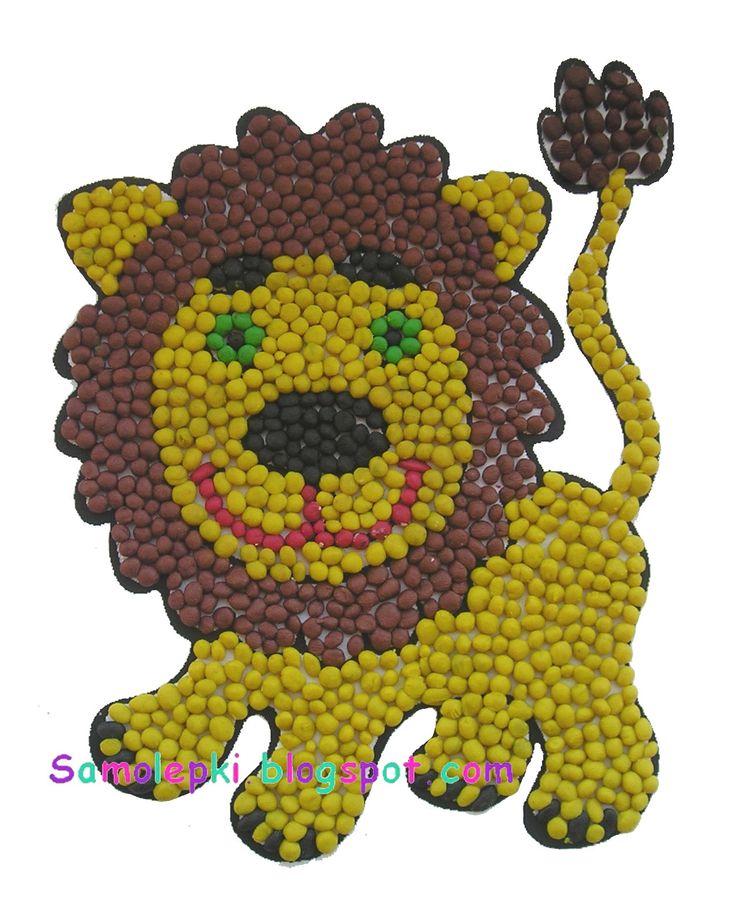 Мастер класс мозаика из пластилина - Лепка из пластилина. Поделки из пластилина для детей.