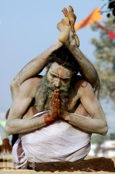Artful Sadhu in Allahabad, India