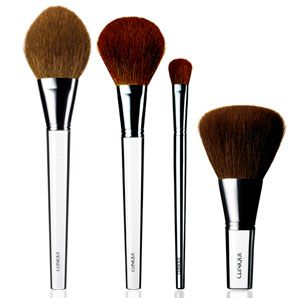 Clinique antibacterial makeup brushes!  They work!