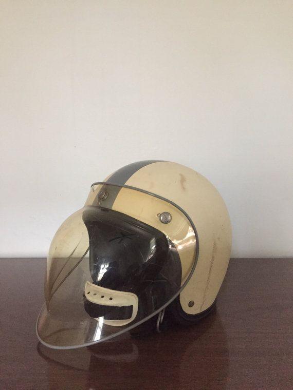 Rare 1960s Buco Snell Helmet with Bubble Shield