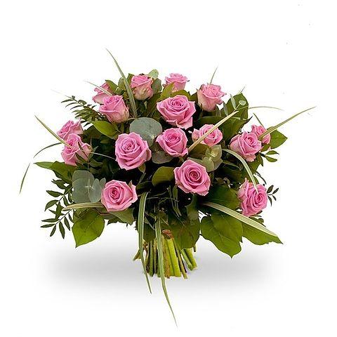Voor de liefste Moeder - Moederdag - Boeket roze rozen - Van Boeketten.nl