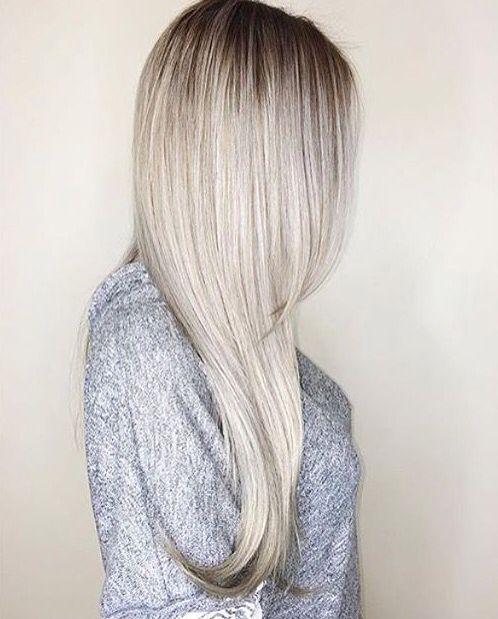 Granny hair ombré