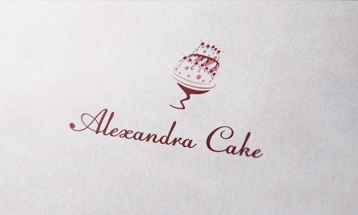 [ Логотип для кондитерской. Alexandra Cake - изготовление уникальных кондитерских изделий ]