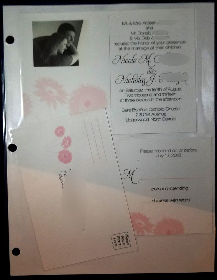 reply to wedding invitation m%0A Muted pink flower invite