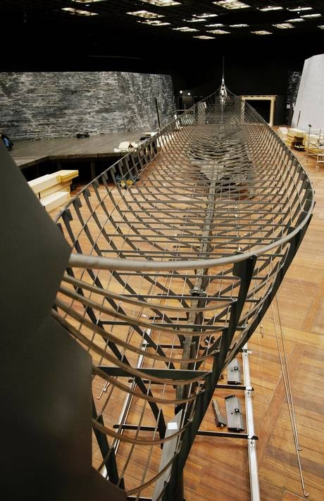The Longship (Roskilde 6). The largest Viking ship ever discovered. The 37 metres long warship was built in southern Norway around 1025, and deliberately sunk in Denmark in the mid-11th century.
